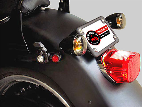 2002 Amp Up Harley Sportster Black Turn Signal Relocation