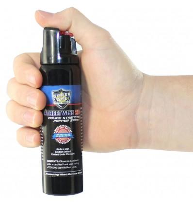 Police Strength Streetwise 23 Flip Top Pepper Spray 4 oz