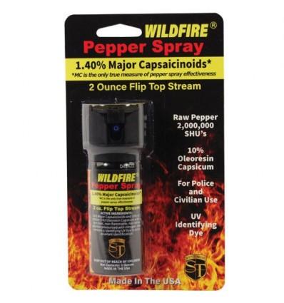 Wildfire 1.4% Pepper Spray Flip top Actuator 2 oz Stream