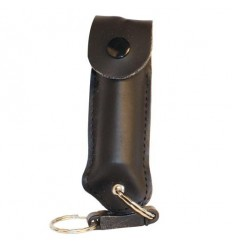 Pepper Shot Pepper Spray with Colored Leatherette Holster 1/2 oz