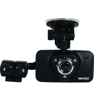 Car Dual Dash Cam HD DVR Recorder with 2nd Remote Camera
