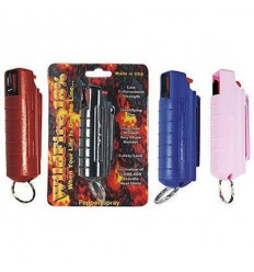 Set of 5 Wildfire 18% Pepper Sprays 1/2 oz Hard Case