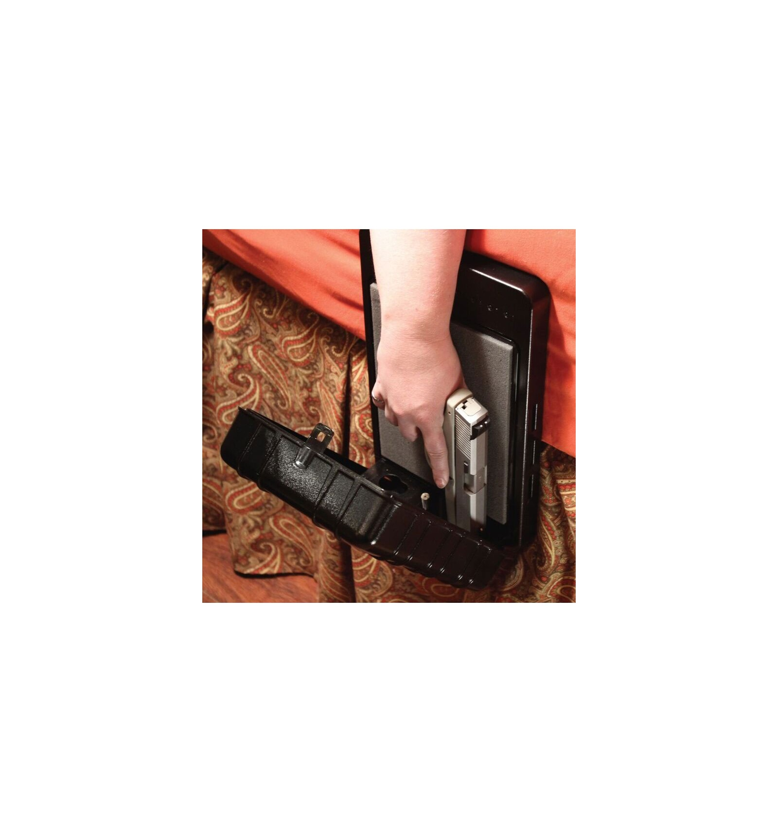 arms reach defender bedside biometric gun safe