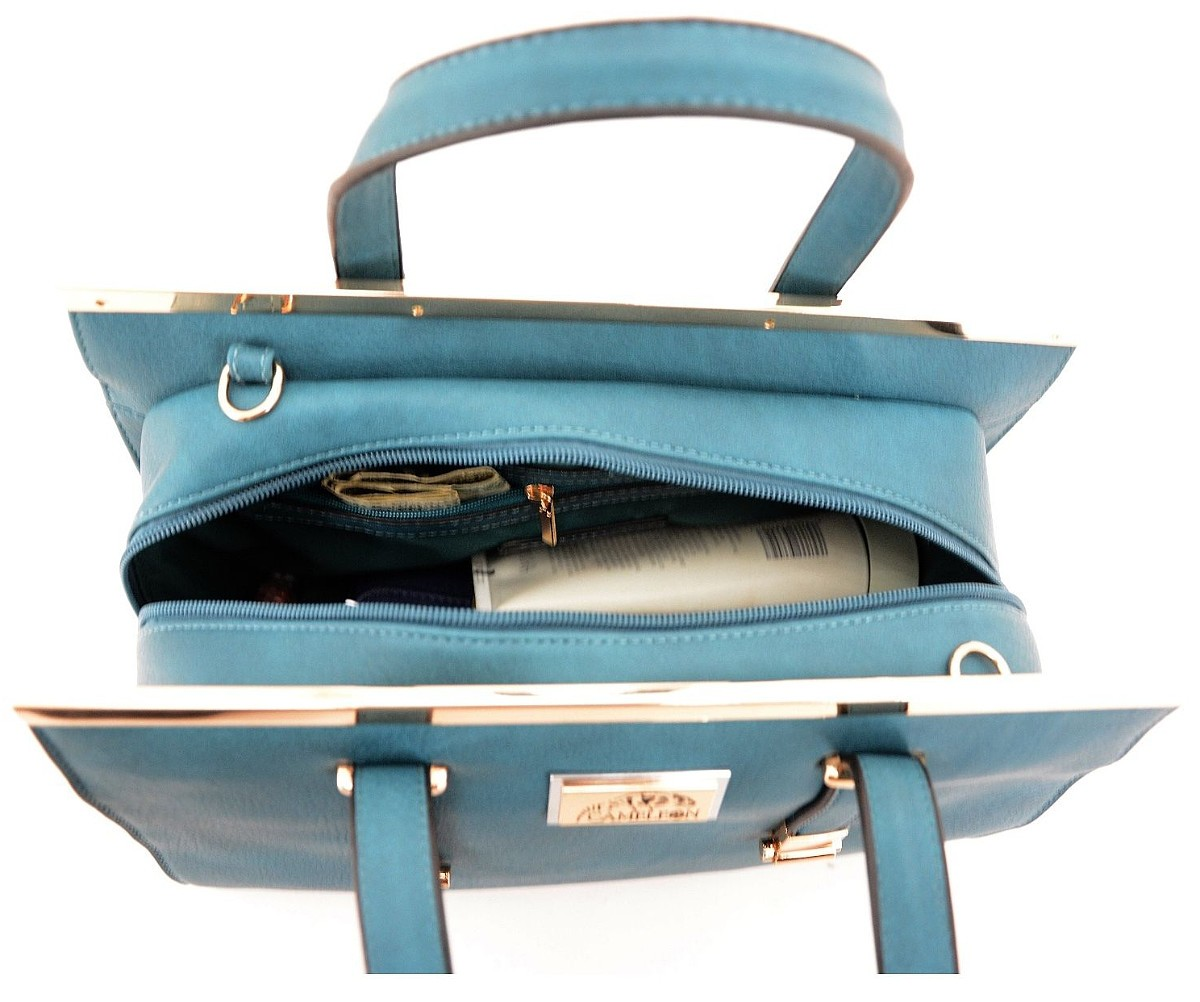 bf42e084517e Cameleon Cora CCW Concealed Carry Leather Purse with Holster Teal