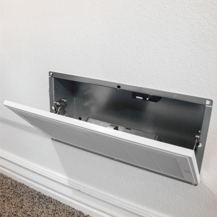 Quick Vent Hidden Wall Diversion Safe with RFID Access