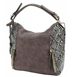 Cameleon Reptic Concealed Carry Purse Grey & Brown