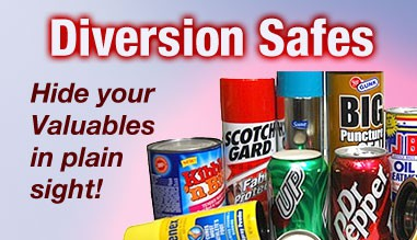 Diversion Safes - Hide your valuables in plain sight with these safes disguised as ordinary items